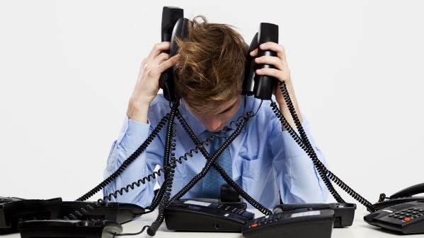 Stress-am-Telefon