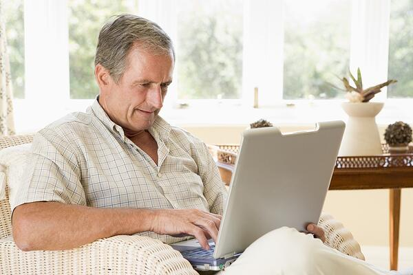 Senioren lieben Live Chat